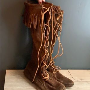 Knee High Minnetonka Moccasin Boots